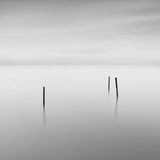 Pier Posts in Water Photographic Print by David Burdeny
