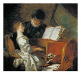 Music Lesson Giclee Print by Jean-Honoré Fragonard