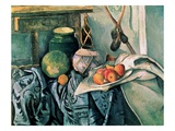 Still Life with Pitcher and Eggplant Giclee Print by Paul Cézanne