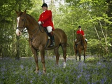 Two Mounted Huntsmen in Forest Photographic Print by Neil Guegan