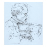 Illustration of a Violinist by Alexandra Day Gicleetryck av Alexandra Day