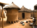 Houses in Djiri Village Photographic Print by Michel Gounot