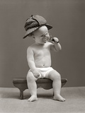 1940s Baby Sherlock Holmes In Diaper Photographic Print by H. Armstrong Roberts