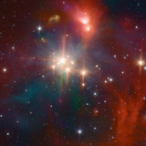 Infrared Image of the Coronet Cluster Photographic Print