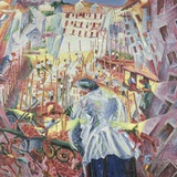 The Street Enters the House Photographic Print by Umberto Boccioni