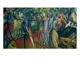 Zoological Garden I Giclee Print by August Macke