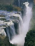 Close-up of Victoria Falls Fotografisk tryk af Paul Souders