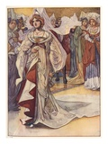 Cinderella Appears at the Ball Giclee Print by Charles Robinson