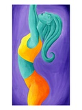 Woman Doing Yoga Giclee Print by Vicky Emptage
