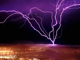 Lightning over San Francisco Photographic Print by Douglas Keister