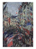 Rue Saint-Denis, Celebration of June 30 Giclee Print by Claude Monet