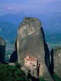 Monastery of Rousanou Fotografisk tryk af Steve Vidler