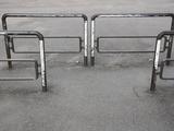 Pedestrian Barriers on Pavement Fotodruck von Jim Vecchi