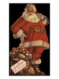 Illustration of Santa with Bag of Toys Giclee Print
