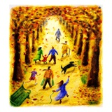 Autumn Stroll Giclee Print by Rosemary Woods