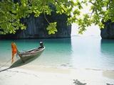 Strand på øen Ko Hong Fotografisk tryk af José Fuste Raga
