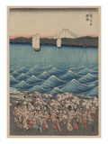 Opening Celebration of Benzaiten Shrine at Enoshima Giclee Print by Ando Hiroshige