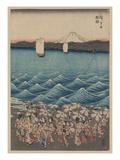 Opening Celebration of Benzaiten Shrine at Enoshima Giclee Print by Ando Hiroshige