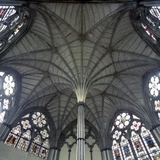 Fan Vaulting in Westminster Abbey Chapter House Ceiling Photographic Print by Angelo Hornak