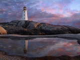 Tide Pool by Lighthouse Photographic Print by Cindy Kassab