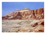 Egypt, the Valley of the Kings Giclee Print by Walter Prell