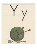 Y is for yarn Giclee Print