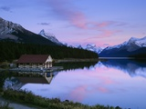 Maligne Lake at Dusk, Jasper National Park, Alberta, Canada Photographic Print by Miles Ertman