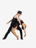 Two dancers performing salsa Fotografie-Druck