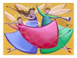 Angels Playing Musical Instruments Giclee Print