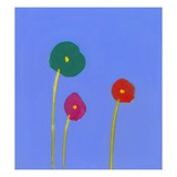 Three flowers Giclee Print by Marie Bertrand