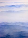 Keren Su - Misty mountain range - Fotografik Baskı