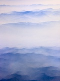 Misty mountain range Photographic Print by Keren Su