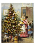 Merry Christmas to All and to All a Good Night Giclee Print by William Roger Snow