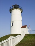 Nobska Point Lighthouse on Cape Cod Photographic Print by Walter Bibikow