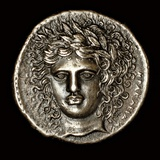 Ancient Greek Silver Tetradrachm with Head of Apollo Photographic Print