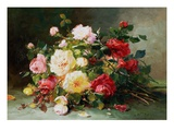 A Bouquet of Roses Giclee Print by Eugene Henri Cauchois