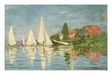 Regatta at Argenteuil Giclee Print by Claude Monet
