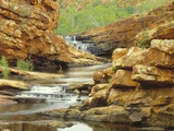 Waterfall in Bell Gorge in the Kimberley Range of Western Australia Photographic Print by Nick Rains