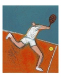 Man Playing Tennis Giclee Print by Marie Bertrand