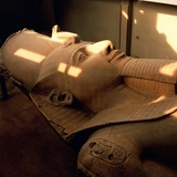 Colossus of Ramses II at Memphis Museum Photographic Print by So Hing-Keung