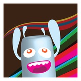 Excited robot Giclee Print by Sabet Brands