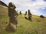 Moai at Rano Raraku on Easter Island Photographic Print by O. and E. Alamany and Vicens