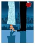 Romantic Couple in City Reproduction procédé giclée