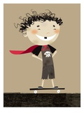 Teenage superhero Giclee Print by Harry Briggs