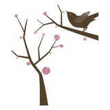 Bird in tree Giclee Print by Anne Bryant