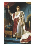Napoleon I in Coronation Robes Reproduction procédé giclée par Francois Gerard
