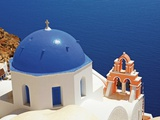 Church Overlooking the Aegean Photographic Print by Jean-pierre Lescourret