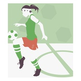 Female Soccer Player Giclee Print