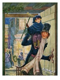 Bob Cratchet and Tiny Tim Giclee Print by Hazel Frazee