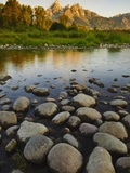 Scenic view of mountains and river Photographic Print by Daniel Grill